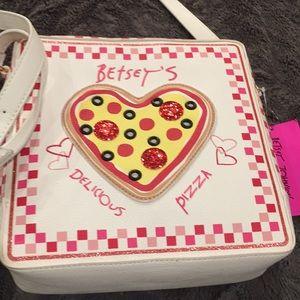 Handbags - New Rare Betsey Johnson Pizza Box Pocketbook